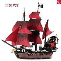 Caribbean Queen Ghost Pirate Ship Legoed Building Blocks Educational Toys Set
