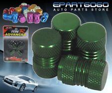 Aluminum Green Anodized Wheel Valve Stem Valve Caps For Subaru Cars Tires/Rims