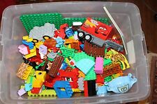 10+ Pounds Lbs Lego Duplo Lot Blocks Figures Books Zoo Animals Trains Base Plate