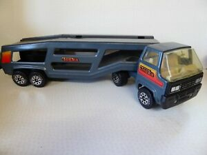 """Vintage Tonka Mighty Car Carrier Semi Transporter Grey Massive Approx 27"""" Long"""