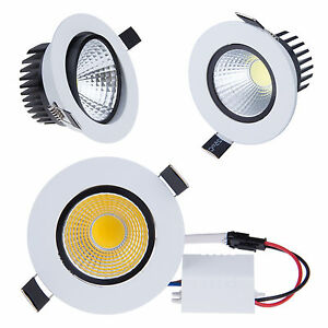 1/4/10pcs Dimmable 6W 9W 12W 15W LED COB Downlight Ceiling Recessed Light Lamp