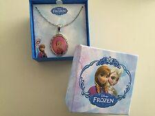 """Disney Frozen Anna Silver Tone Pendant Necklace 16"""" Chain"""