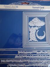 Tattered Lace Die Tunnel Card Cloud, Stars, Moon, Sentiments New Free P&P