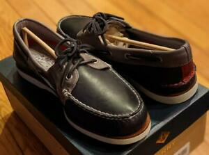 $160 Mens Sperry A/O Gold Cup Leather Fairhaven Boat Shoes Navy/Gray US 9