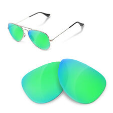 Polarized Replacement Lenses for Rayban 3025 aviator 58 size sapphire green