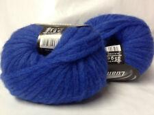 10 pelotes laine / 58 % mérinos 14 % alpaga / bleu électrique