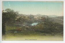 Antique PENANG Malay Village -- Huts Natives Postcard ca. 1910s