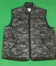 Camo Vest Ebony Quilted Size 2XB TALL Men Full Zippered Goodfellow Free Shipping