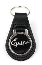 Triumph Bond Equipe Logo Quality Black Leather Keyring