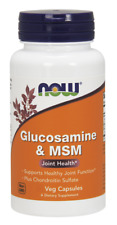 Glucosamine & MSM Plus Chondroitin Sulfate Now Foods 180 Veg Cap