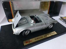 maisto porsche 550a spider 1955 silver 1:18 scale hood trunk & doors open