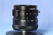 CANON TV LENS PHF 35 mm 1:1.2 JAPAN , rare. C Mount,M25