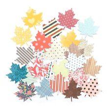25 X papel estampado de hojas de arce Scrapbooking Vintage Lindo Craft cardmaking