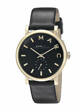 NEW Marc by Marc Jacobs MBM1269 Baker Black Leather Strap Women's Watch
