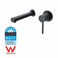 WELS Wall Mounted Single Handle Black Painting Bathroom Faucet Sink Mixer Tap