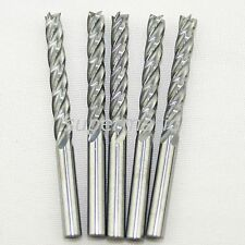 CEL 22mm Spiral Bit End Mill 10 x1/8'' HQ Carbide CNC Four 4 Flute Cutter gb
