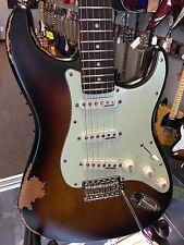 Vintage Guitars Strat V6hmr 2016 Distressed Sunset Sunburst Electric Guitar