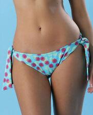 Brand New Pour Moi Seychelles Tie-side Bikini Brief 1304 Size 16 Blue Multi