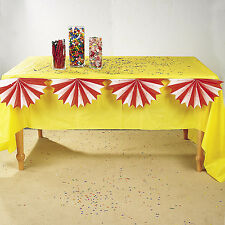 4 RED & WHITE Birthday Party CARNIVAL CIRCUS BIG TOP Bunting Table Decorations