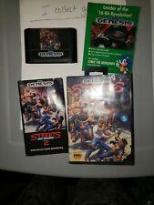 Streets of Rage 2 (Sega Genesis, 1992) Complete In Box CIB