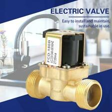 AC 220V G3/4 2-Way Normal Closed Water Control Electric Solenoid Valve Brass SG
