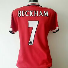 BECKHAM 7 Manchester United Shirt - Medium - 1998/2000 - Umbro Home Jersey