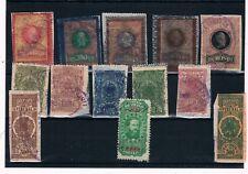 Brasil. Conjunto de 13 sellos Fiscales
