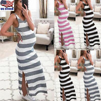 Women Mom Pregnancy Nursing Sleeveless Dress Casual Tank Vest Maternity Clothes