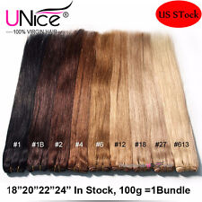 100g/Bundle UNice 8A Blonde Brazilian Virgin Hair Straight Human Hair Extensions