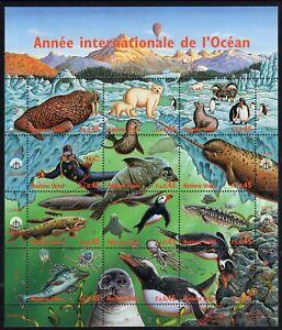 United Nations - Geneva 1998 Year of the Ocean sheetlet fine fresh MNH