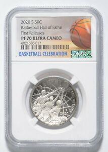 2020-S Basketball Hall of Fame Half Dollar Commemorative NGC PF70 FR NGC *0936