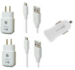 LG OEM Fast Wall USB-C Car Adapter For LG Stylo 6/Q70/K51/V60 ThinQ/Reflect