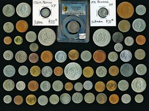67 OLD MEXICO & LATIN/SOUTH AMERICA COINS > AWESOME >  SEE PICS > NO RSRV