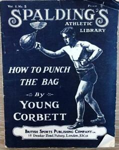 C1920'S SPALDING'S ATHLETIC LIBRARY YOUNG CORBETT BOXING ORIGINAL WRAPS