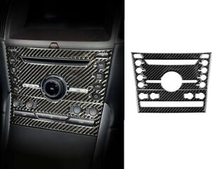Carbon Fiber Volume Switch Button Panel Cover Trim Fit For Ford Edge 2015-2020