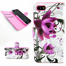 Pretty Stand Flip PU Leather Folding Wallet Cover Case For Apple iPhone 5 5S SE