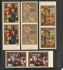 Dahomey #C195-C198 MNH Imperforated Pairs - 1973 35fr to 200fr Paintings