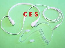 FBI Style Throat Mic Headphone/Earphone Mic For Apple iPhone 5 5C 5S White Color