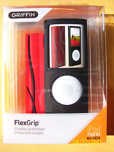 Griffin FlexGrip Cases for 4th gen. Apple iPod nano 8GB, 16GB Red & BLK