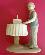 The Leonardo Company Porcelain Birthday Boy And Cake Figurine Pastel Colors