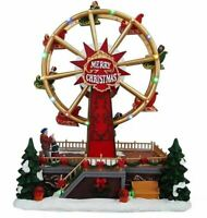 St. Nicholas Square Ferris Wheel Christmas Village Fair Illuminated Plays Music