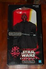 """Darth Maul 12"""" Autographed Ray Park-Star Wars-New 1/6th Scale MIB"""