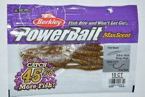 """berkley powerbait maxscent flat worm 3.6"""" mango magic drop shot max scent NEW"""