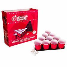Original Beer Pong Kit Officiel Qualité Premium - 22 Grands Gobelets Américains