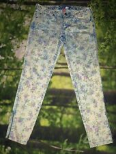 Divided by H&M Red Concept Women's Multicolor Floral Stretch Ankle Pants Sz 10