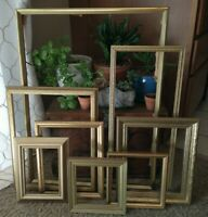Vintage Gold Wood Ornate PICTURE FRAME Lot  Recycle Art Craft Deco Estate Sale 8