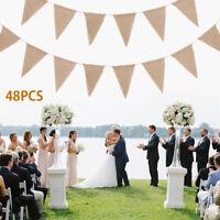Hesse drapeaux banderoles bannière toile jute rustique bannière mariage décor ME