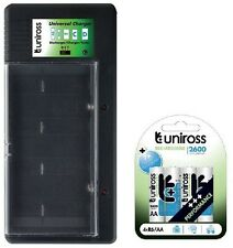 UNiROSS UNIVERSAL AA/AAA/C/D/PP3 BATTERY CHARGER+ 4 x AA 2600 SERIES BATTERIES