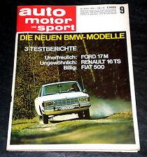 AMS 09/68 Test: Ford 17 M, Warum starb Clark? Test: Fiat 500 F,Matra F1, R 16 TS