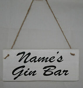 Bespoke Your Words Sign Personal Gin Vodka Rum Prosecco Bar Shack Patio Plaque